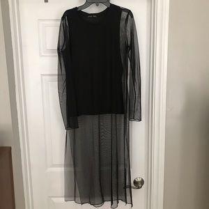 Zara Sheer Shirt Dress